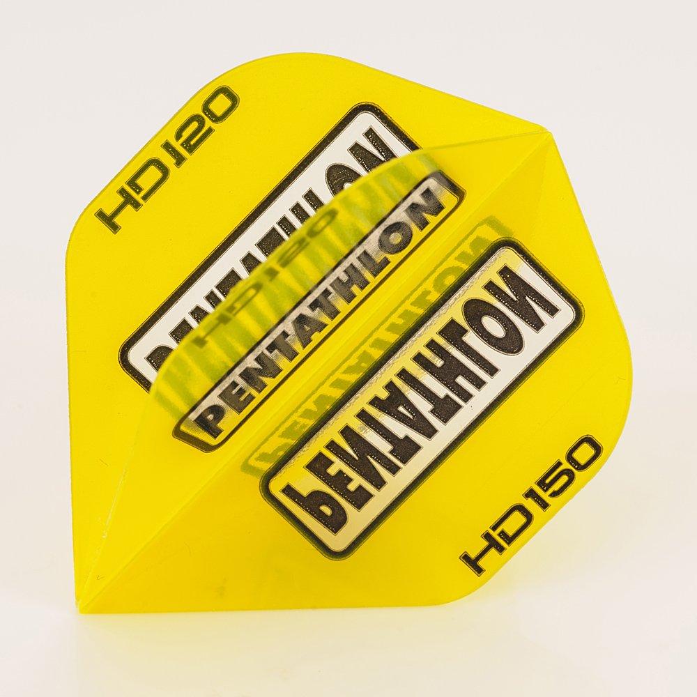 5 x Sets of Pentathlon Yellow Super Tough HD150 Dart Flights, Standard by PerfectDarts
