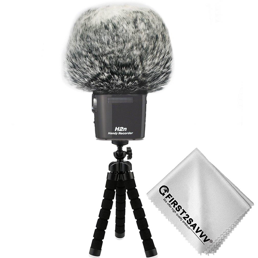 chiffon de nettoyage TM-DM-H2N-F01TZ3 First2savvv Bonnette anti-vent Furry /à lext/érieur pour enregistreurs num/ériques portables pour Zoom H2n Tr/épied