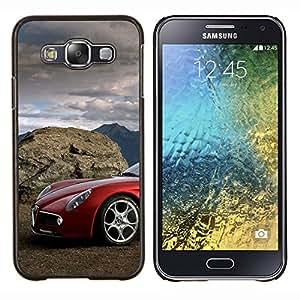 Alfa italiano de coches- Metal de aluminio y de plástico duro Caja del teléfono - Negro - Samsung Galaxy E5 / SM-E500