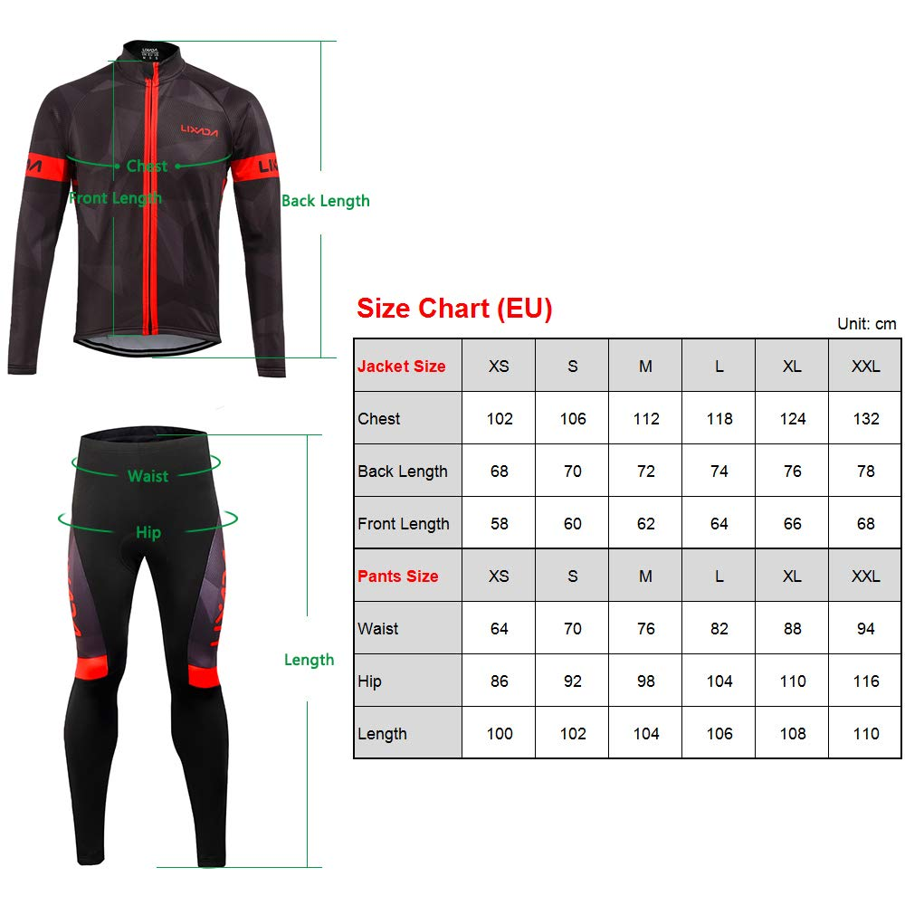 Amazon.com: Lixada - Maillot de ciclismo para hombre, de ...