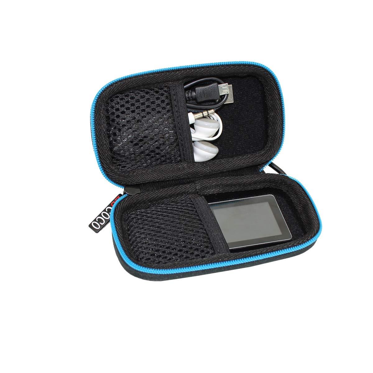 ESCOCO Duro Estuche Viajes Funda Bolso para Reproductor MP3//MP4 Bluetooth,para Reproductor Victure//Soulcker//Svmuu//FITFORT//SUPEREYE MP3 Player
