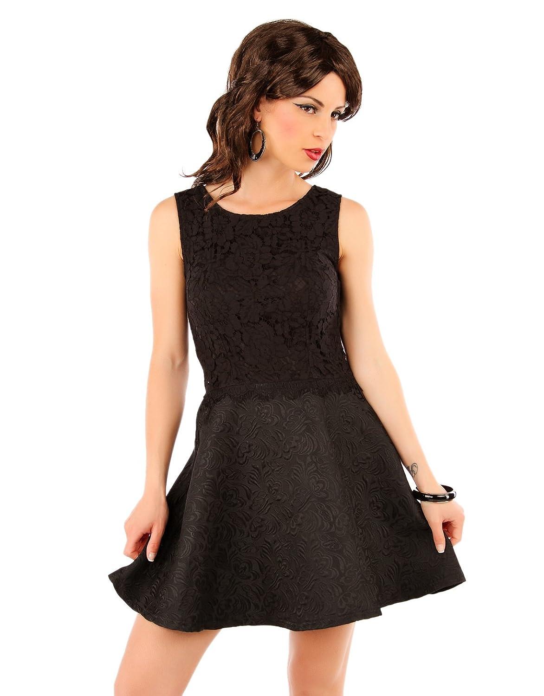 Few24 Elegantes Damen Kleid Partykleid mit Spitze und ...