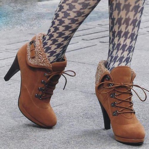 Boot Naisten Ruskea Naisten Aiyoumei Boot Ruskea Aiyoumei REBqSBwdF