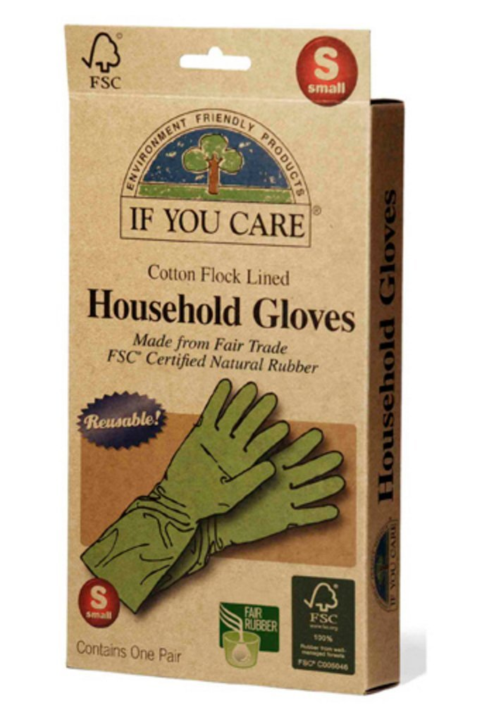 If You Care Fair Trade FSC Household Gloves, Small, 2-pack