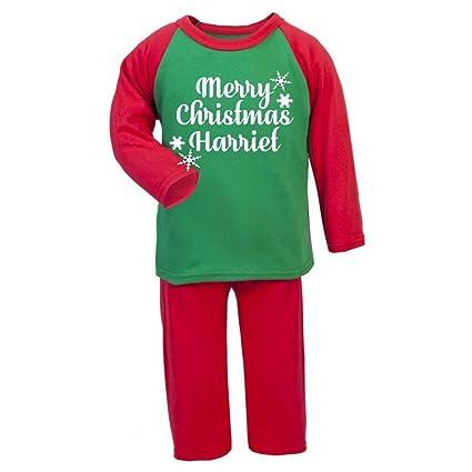Regali Di Natale Per Bambini 2 Anni.Personalizzato Natale Pigiama Merry Christmas Toddler Pigiama Childs