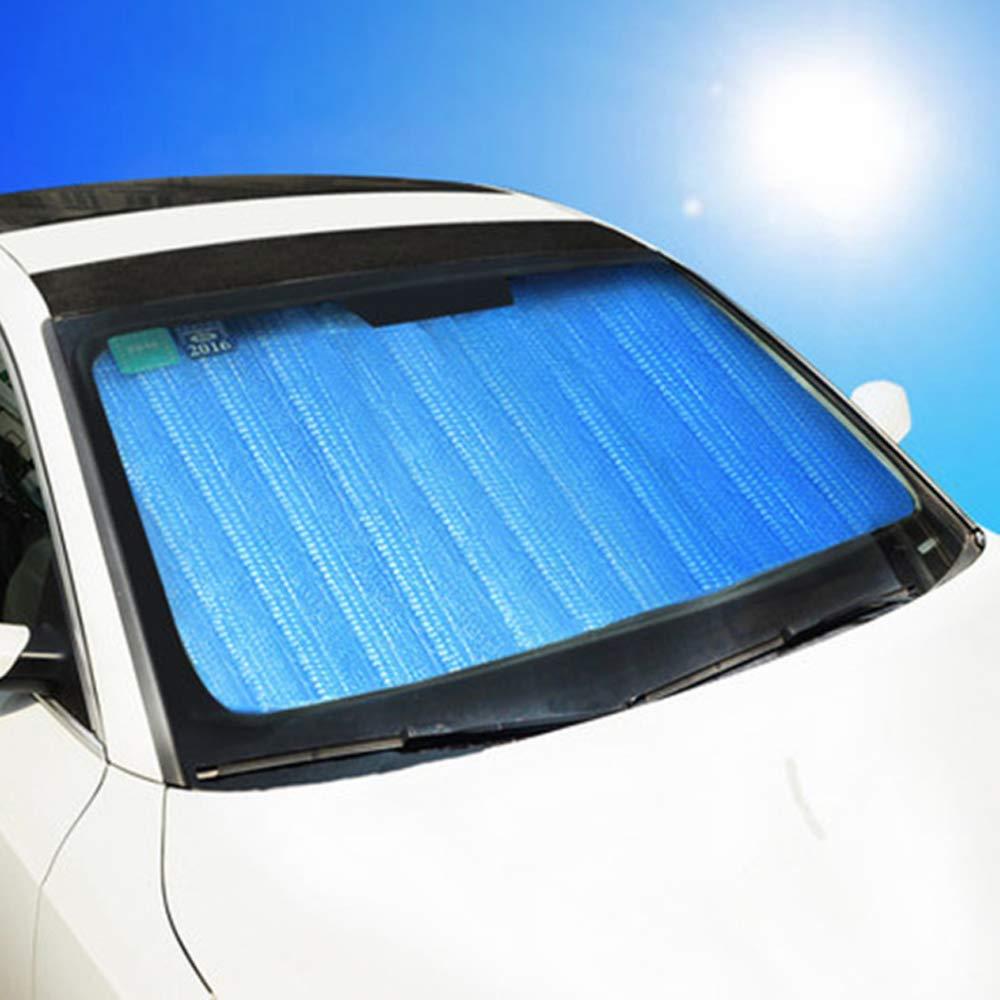 Roblue Auto Sonnenschutz f/ür Frontscheibe Aluminiumfolie W/ärmeisolierung Blase Windschutzscheibe Sonnenblende Faltbare Einfache Lagerung