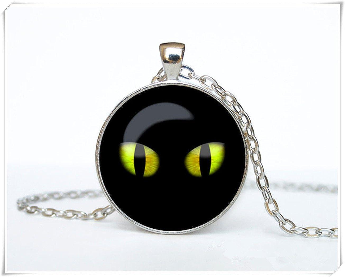 Black cat Pendant Black cat necklace Black cat jewelry Halloween necklace cq2
