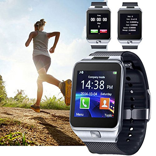 inDigi 2-in-1 Smart Watch and Phone - GSM Unlocked + Compatible w/Bluetooth (Silver)