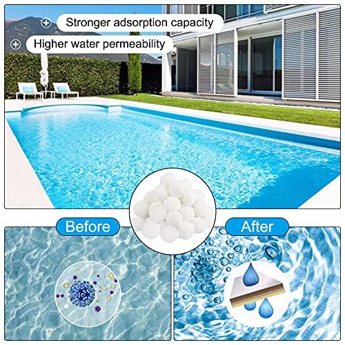 Vivibel Filterbälle für Sandfilteranlagen, 700g Pool Filterbälle, Kann 25 kg Filtersand Ersetzen, Sandfilteranlage Filterballs Geeignet für Pool Filter Schwimmbad Filteranlage, Poolreinigung Zubehör.