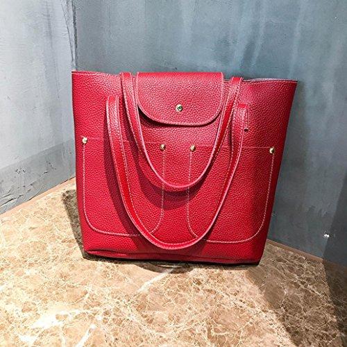 Hanle Sale Handbag Bag Ladies Bag Bag Bag PU Satchels Package Clearance Soft Purse Red Bag Leather Tote Women Casual Bag Shoulder Top Crossbody Messenger 4Pcs Halijack Card rwZHTrqxI