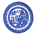 """Churchill Blue Willow Fine China Earthenware Salad Plate 8"""" Set Of 6, Made In England"""