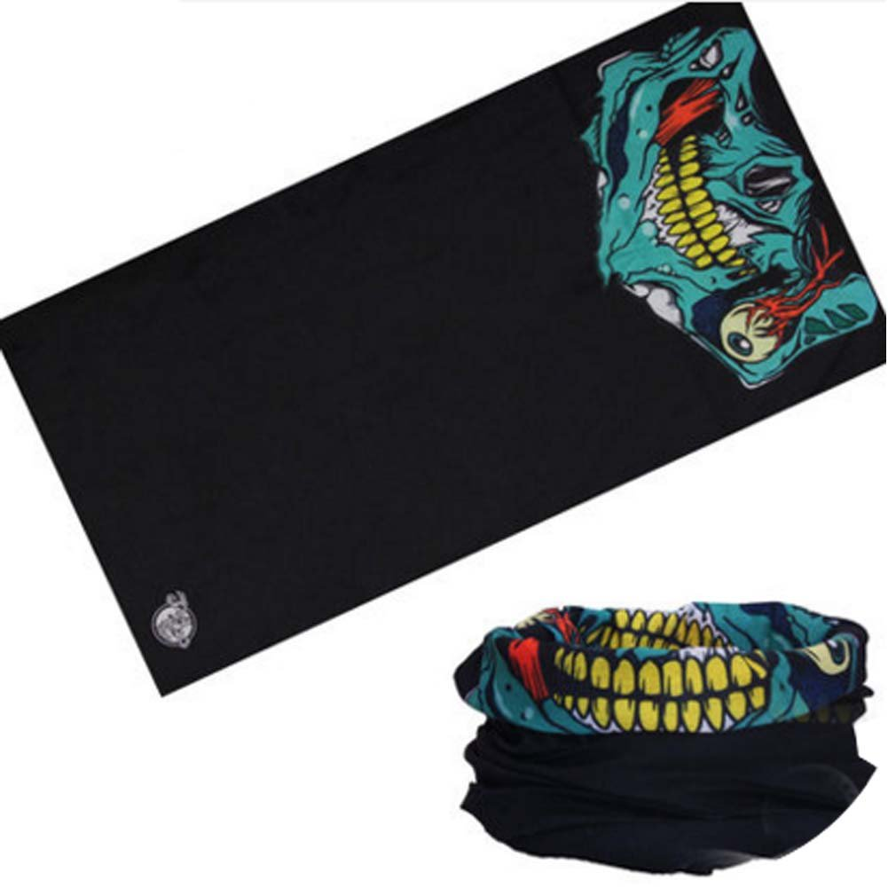 Cycling Unisex Headband Thick Absorbent Head Wrap Face Shield Scarves (Skull) PANDA SUPERSTORE PS-SPO2419729011-FLORA00305