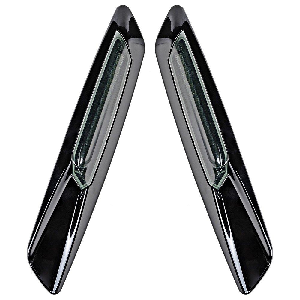 Black Smoke Lens F10 Style LED Fender Side Marker Turn Signal Light For 2007-2011 325i 325xi 328i 328xi 330i 330xi 335d 335i 335xi