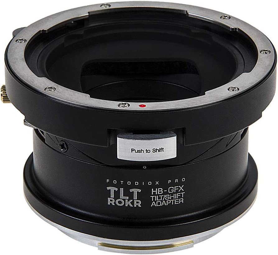 Tilt//Shift Lens Mount Adapter Compatible with Hasselblad V-Mount SLR Lenses to Fujifilm Fuji G-Mount GFX Mirrorless Camera Body Fotodiox Pro TLT ROKR