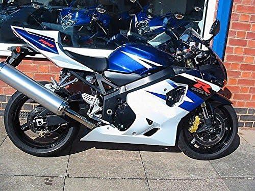 Black White Blue Complete Injection Fairing For 2004-2005 Suzuki GSXR 600 750