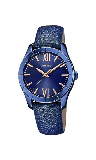 Calypso Reloj Análogo clásico para Mujer de Cuarzo con Correa en Cuero K5718/4: Calypso: Amazon.es: Relojes