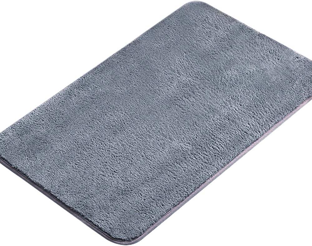 Tonsooze Alfombrilla de Baño Antideslizantes, Alfombra de baño de Microfibra esponjosa, Alfombra Absorbente Antideslizante para Bañera, Ducha y Baño 50 x 80 cm, Gris