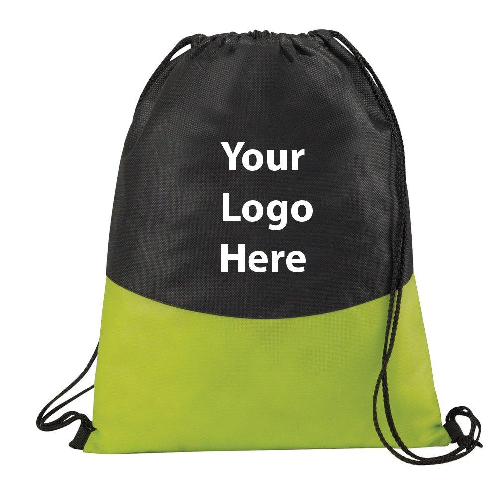 Polypro不織布巾着Sportspack – 288数量 – $ 2.20各 – プロモーション製品/バルク/ブランドロゴ/でカスタマイズされた B01FSEF1MY  ライムグリーン