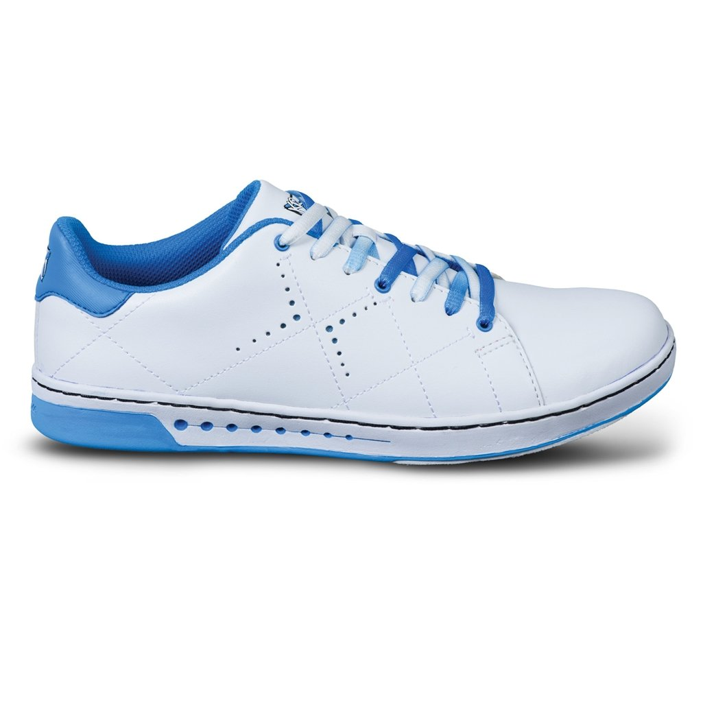 KR Strikeforce Bowling Shoes Youth Girls Gem Bowling Shoes- White/Blue, 4 by KR Strikeforce