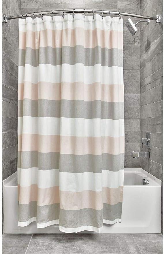 iDesign Ducha a Rayas, Preciosa Cortina de baño x 183,0 cm de ...