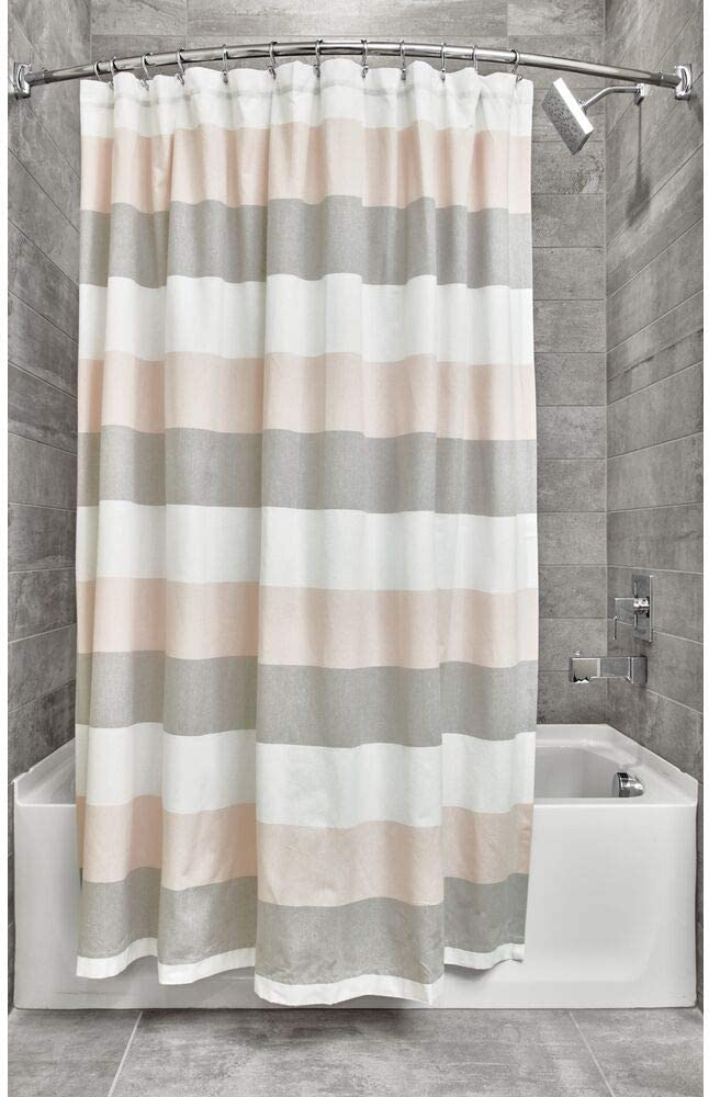 blanco 183 x 183 cm Basics Cortina de ducha de poli/éster estilo damasco