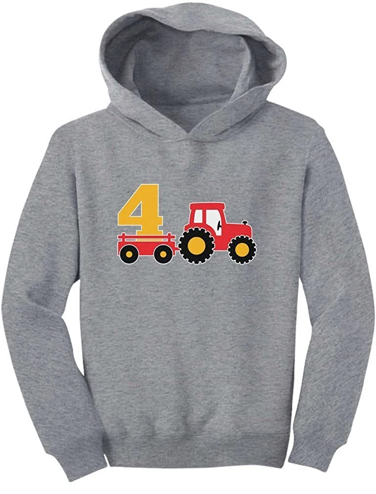 Tstars 4th Birthday Gift Tractor Construction Party 4 Year Old Boy Toddler Hoodie GtPt0h0gvm