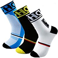 Calcetines de ciclismo para hombre HD Sports, transpirables, acolchados, para ciclismo, trekking, esquí, rastreo | alto…