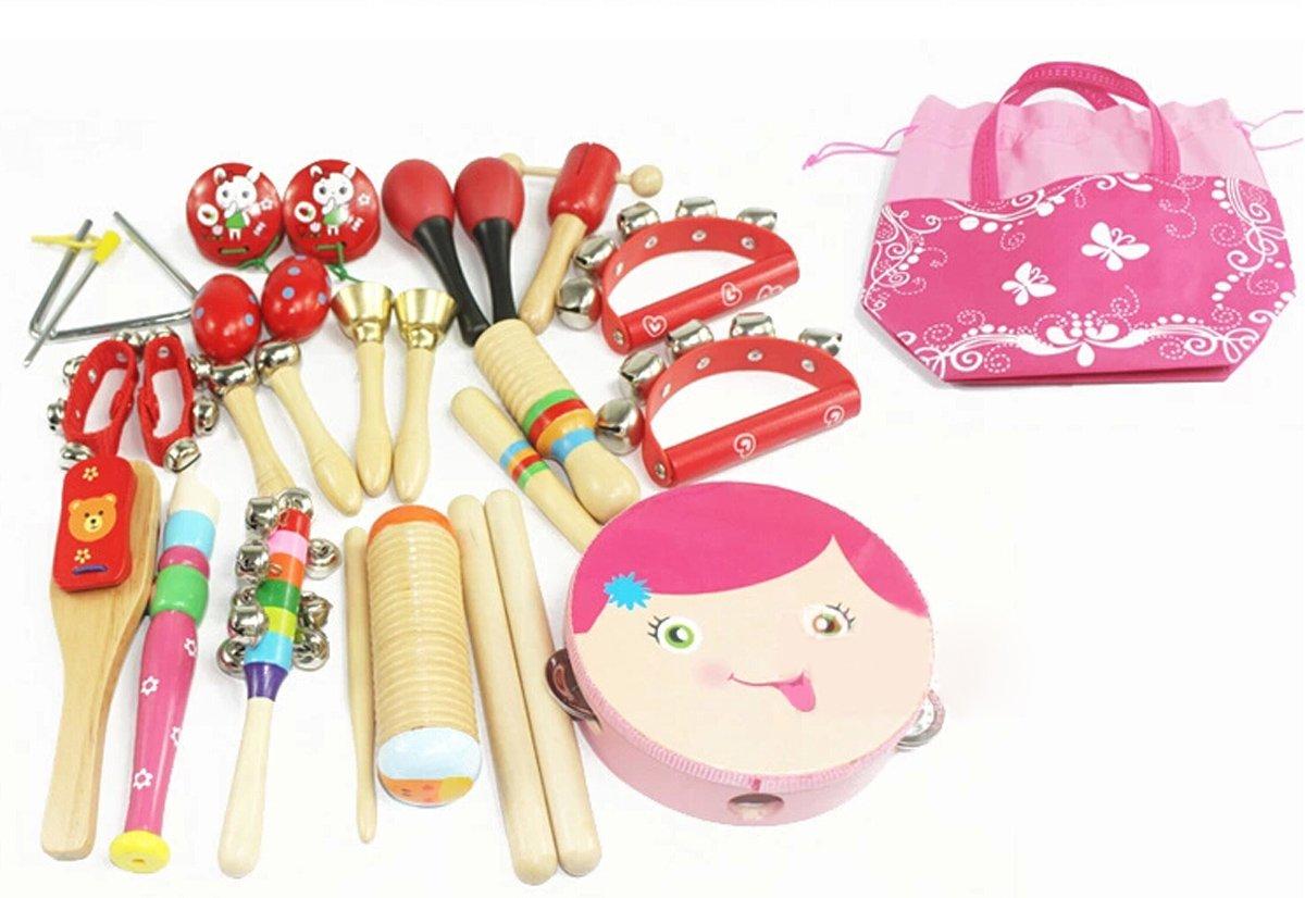 HappyCherry® 16 in 1 Baby Musikinstrument Spielzeug Percussion-Set Percussion-Set Percussion-Set Bestees Geschenk für Kinder - Blau d38dfc