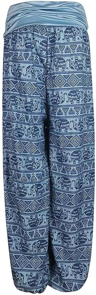 ZEZKT pantalones de yoga sueltos mujer harem pantalones mujer verano impresi/ón har/én pantal/ón pantalones anchos mujer pantalones harem vintage pantal/ón el/ástico para mujer con estampado floral