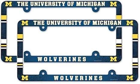Amazon.com : (2) Michigan University Wolverines University LICENSE ...