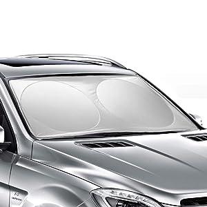 Ohuhu Windshield Sun Shade, Auto Car Sun Shade for Windshield Sunshade Sun Visor for Car Windshield Cover 63 X 33.86 Inches