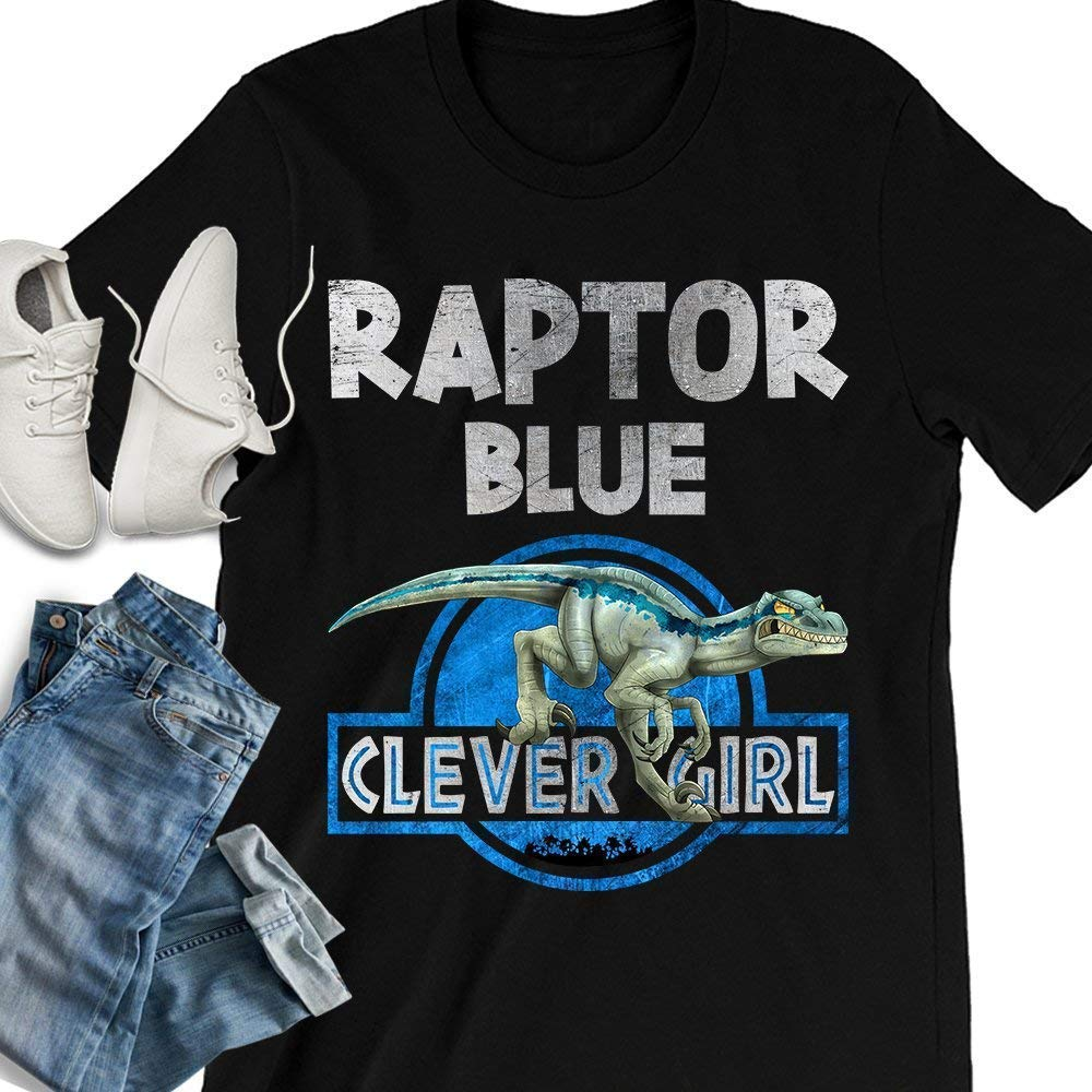 cb09cf403 Handmade Products Raptor Blue Clever Girl Velociraptor Dinosaur Handmade T- shirt/Hoodie/Sweater/Long Sleeve/Tank Top