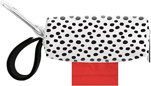 Doggie Walk Bags Dog Poop Bag Holder for Leash, Dog Waste Bag Dispenser with Metal Clip and Adjustable Strap for Any Leash, Tie Handle Bags