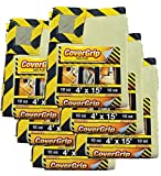CoverGrip 041510 Heavy Duty Safe Path 10 Oz Canvas SAFETY Drop Cloth, 4' x 15', (Pack Of 6),