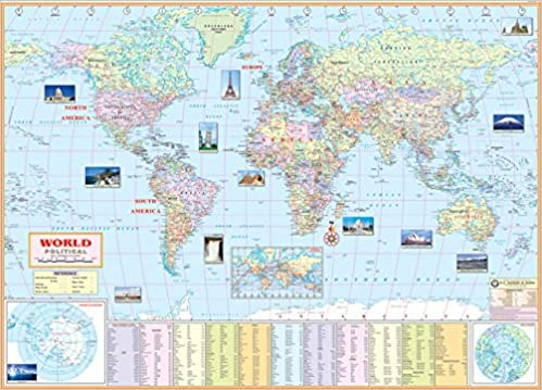 Buy world political map school office map wall map huge size buy world political map school office map wall map huge size 140x100cm book online at low prices in india world political map school office map wall map gumiabroncs Choice Image