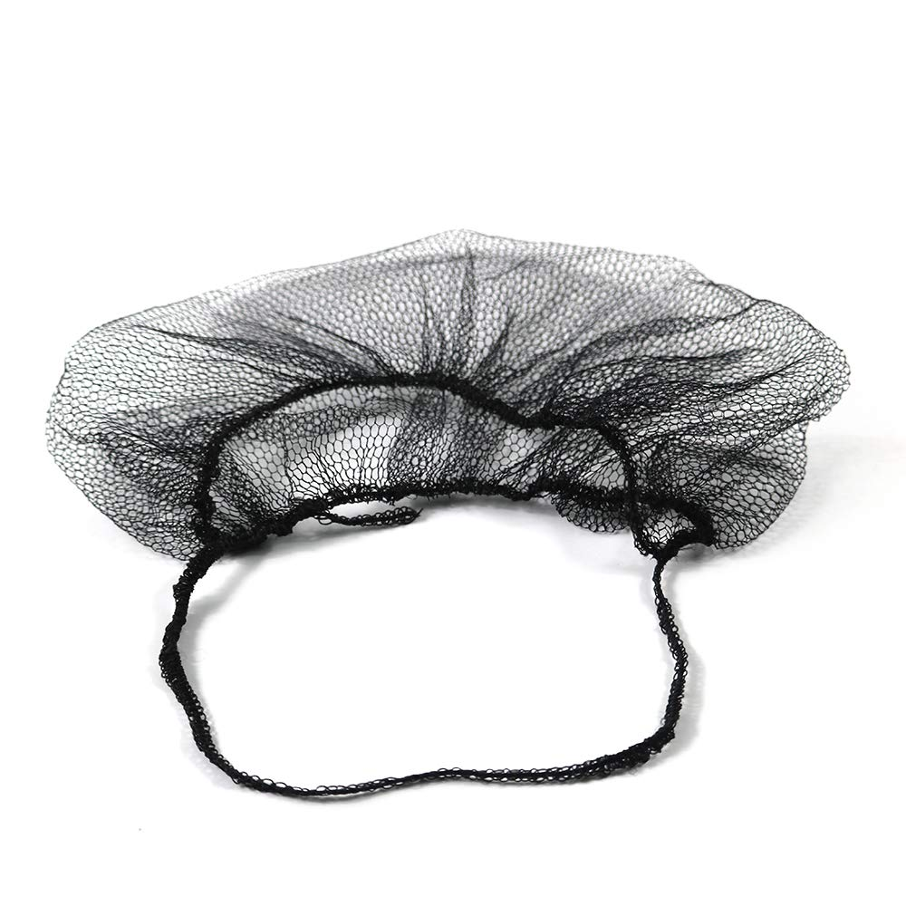 OKEKON 100 Pack Economical Disposable Beard Net/Protector Bouffant Non-woven,Latex Free for Food Service and Kitchen Sanitary Supplies,Beard cover Lightweight & Breathable Fits Most Men, Color Black by OKEKON