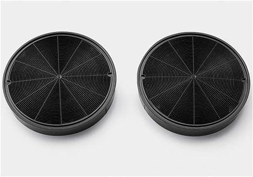 Faber Ariston Smeg Electrolux - Kit de 2 filtros de carbón activo para campana extractora de 196 mm: Amazon.es: Hogar