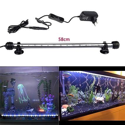 docean d085 de Em58 58 cm Acuario Lámpara Iluminación 7.8 W SMD 5050 Blanco Luz ...