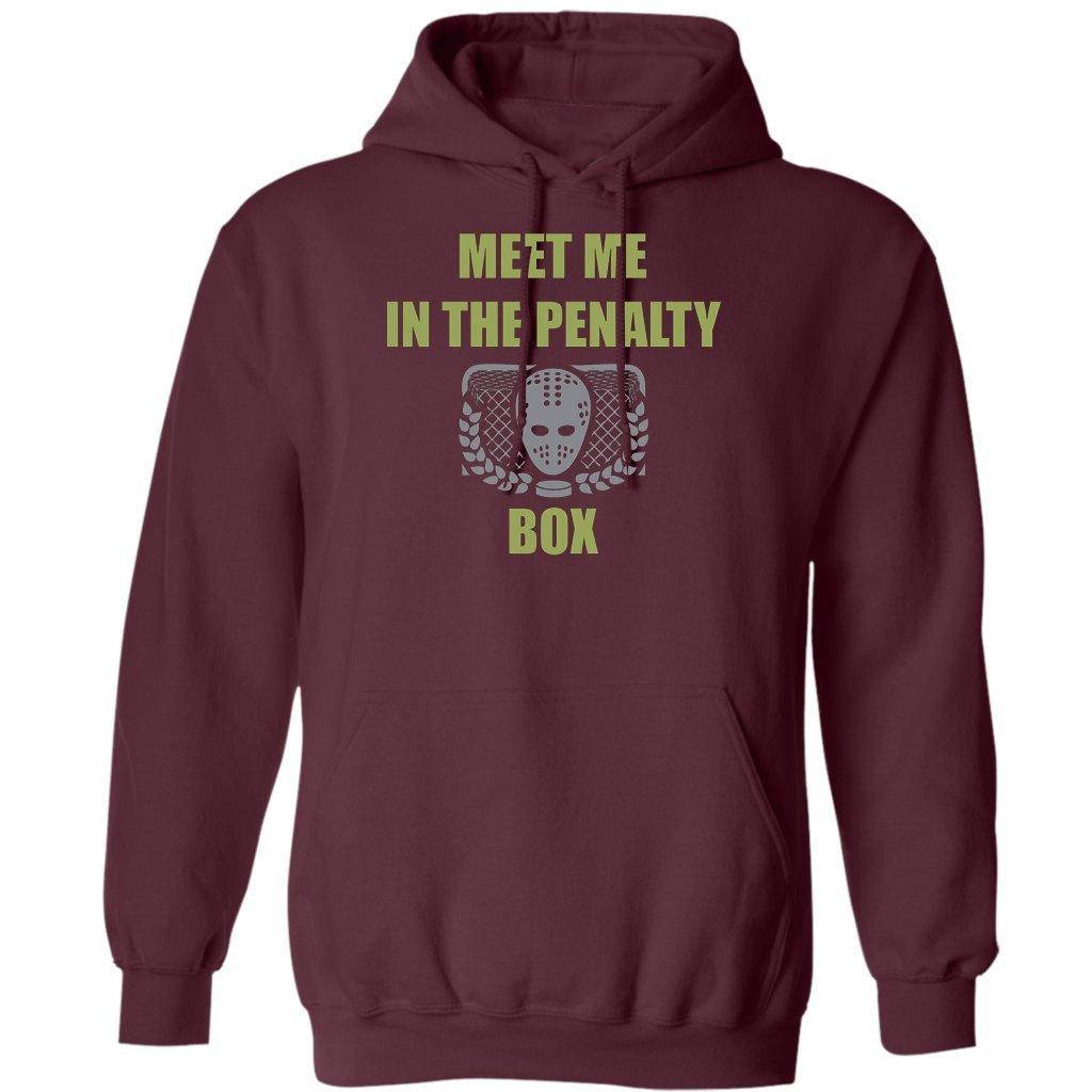 Meet Me Penalty Box Ice Hockey Gift Hoodie Funny Ice Hockey