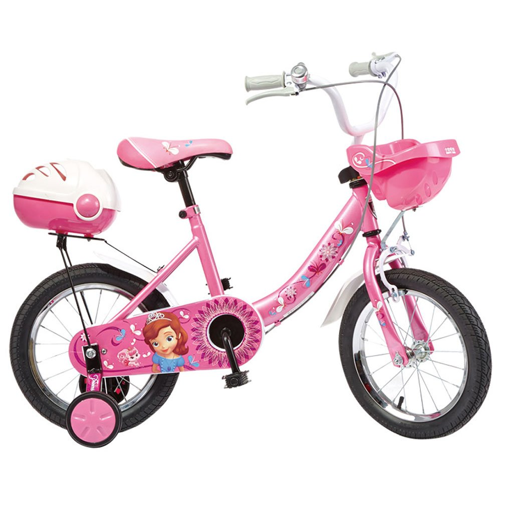 子供用自転車3-6歳のガールズバイク14インチ自転車ハイカーボンスチールベビーカー、ピンク/カラー (Color : Pink) B07CV7SNQL