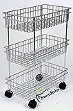 Swadhin 3 Layer Fruit and Vegetable Stand/Basket/Trolley Modern Kitchen Storage Rack (22 H x 16 L x 9 W (Inch))