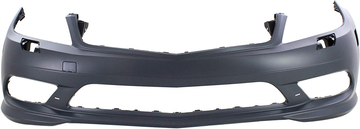 Front Bumper Cover Compatible with MERCEDES BENZ C-CLASS 2008-2011 Primed with AMG Package with DRL