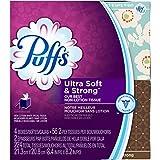 Puffs Ultra Soft & Strong Facial Tissues, 4 cubes, 56 tissues per box