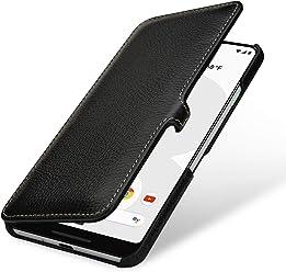 StilGut Housse pour Google Pixel 3 XL Book Type en Cuir, Noir avec Clip