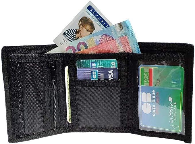 Carte Billet LOLUNA/® Portefeuille Scratch en Toile Permis et Doublure r/ésistante Identit/é Bordeaux Porte Monnaie