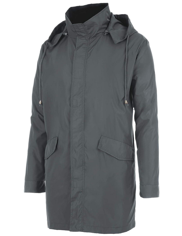 beauty women clearance sale FISOUL Raincoats Men's Waterproof Lightweight Long Rain Jacket Outdoor  Hooded Trench