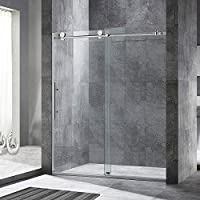 WOODBRIDGE Frameless Sliding Shower Door, 56