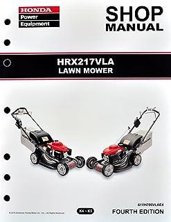 amazon com honda hrx217 hma hxa tda lawn mower service repair shop rh amazon com honda hrx 476 service manual owners manual honda hrx217