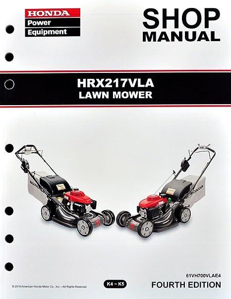 amazon com honda hrx217 vla lawn mower service repair shop manual rh amazon com Honda HRX 217 Honda HRX