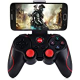 INLIFE Android Game Controller,T3 Wireless Bluetooth 3.0 Gamepad Gaming Controller Joystick for Android Smartphone Tablets/ PC Smart TVs/ TV boxes etc(Black)